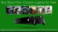 Buy an Xbox One Next Week And Get a Free Game of Your Choice