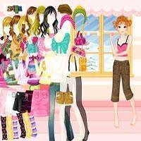 रंगीन सर्दियों पोशाक ऊपर