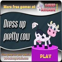 Dress up pretty cow