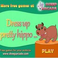 Dress up pretty hippo