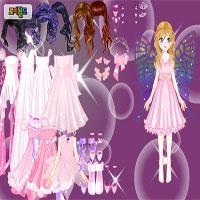 Pink kupu-kupu Dress up