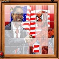 Ordenar mi Obama de azulejos y Spiderman